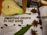 poached pears in redwine